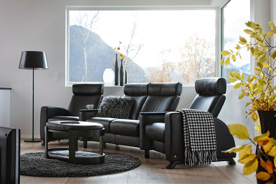 stressless home theater seating stressless arion. Black Bedroom Furniture Sets. Home Design Ideas