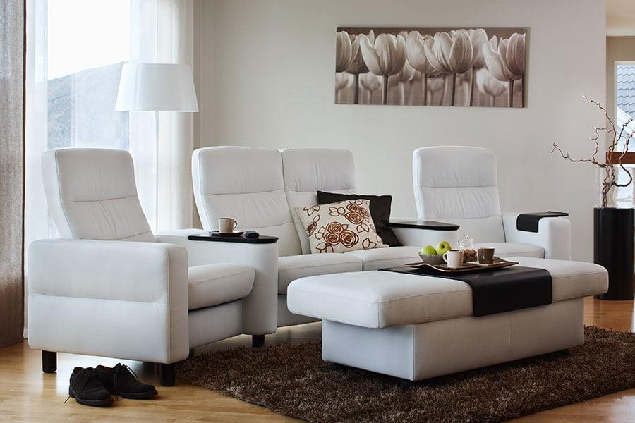 Stressless Wave Highback Sofa Modern Recliner Leather Sofa