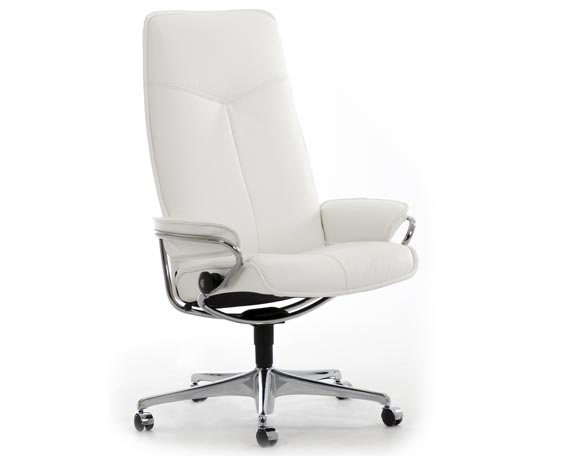Office Chairs Ergonomic Leather Office Chairs From Stressless - White leather office chairs