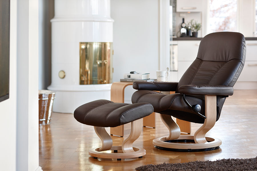 stressless consul leather recliner chairs. Black Bedroom Furniture Sets. Home Design Ideas
