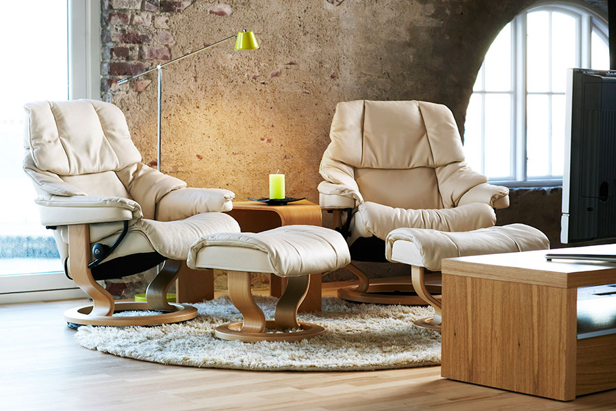 stressless reno leather recliner chairs. Black Bedroom Furniture Sets. Home Design Ideas