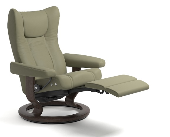stressless wing leather recliner chairs stressless. Black Bedroom Furniture Sets. Home Design Ideas