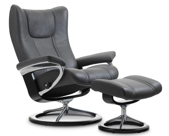Stressless Wing Signature chair  sc 1 st  Ekornes & Leather Recliner Chairs | Scandinavian Comfort Chairs | Recliners islam-shia.org