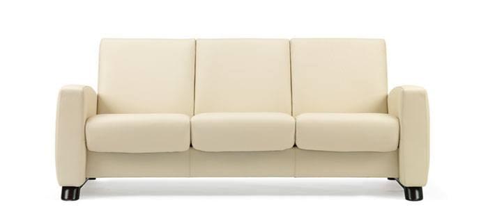 Stressless Arion Lowback Sofa Modern Recliner Leather Sofa - Recliner leather sofa