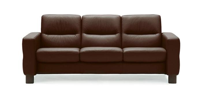 stressless wave lowback sofa modern recliner leather sofa. Black Bedroom Furniture Sets. Home Design Ideas