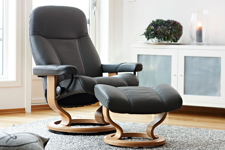 stressless ambassador stressless consul stressless diplomat leather recliner chairs